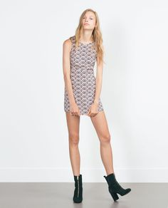 Image 1 of PRINTED JUMPSUIT DRESS from Zara
