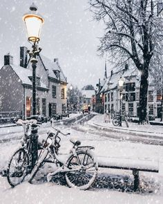***Snowy day (Amersfoort, Netherlands) by Christina (@een_wasbeer) on Instagram❄️🏙🇳🇱
