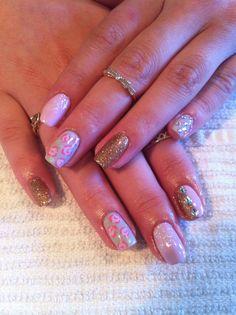 Floral Gel Polish Nails