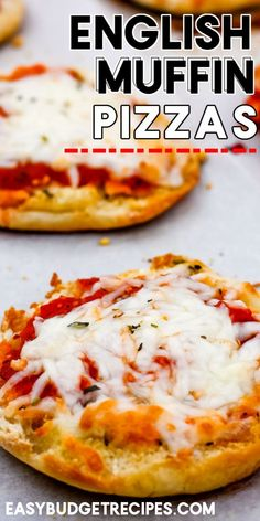 These English Muffin Pizzas are a lunchtime favorite! They take 20 minutes to make, serve 6, and cost $4.33 to make. For more easy dinner recipes follow Easy Budget Recipes! Easy Holiday Recipes, Best Dinner Recipes, Pizza Recipes, Grilling Recipes, Slow Cooker Recipes, Casserole Recipes, Appetizer Recipes, Crockpot Recipes, Breakfast Recipes