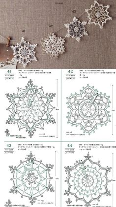 Crochet Snowflake Pattern, Crochet Stars, Christmas Crochet Patterns, Crochet Snowflakes, Doily Patterns, Thread Crochet, Crochet Motif, Crochet Doilies, Crochet Flowers