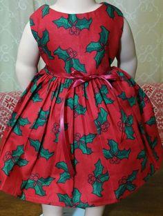 "Doll Clothes-Handmade-American Girl Dolls-Fits 18""-Christmas Bell Dress. #Handmade"