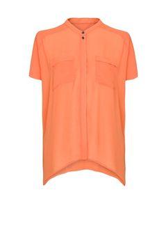MANGO - Oversized sheer blouse