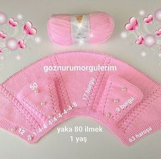 Kasutaja Knitting and Embroidery foto. Baby Knitting Patterns, Knitting For Kids, Crochet For Kids, Knitting Projects, Knit Crochet, Easy Knitting, Baby Pullover, Baby Cardigan, Baby Vest