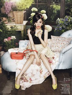 Tiffany Hwang Miyoung of Girls' Generation #SNSD for Ceci Magazine