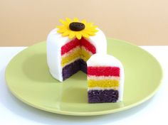 Mini rainbow cake. So cute!