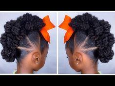 Textured Bun-Hawk Tutorial | Kids Natural Hairstyle | IAMAWOG - YouTube