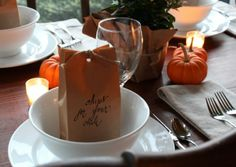 fall place setting for chili...Talk of the House