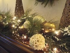 A New Take on the Mantle for Christmas -