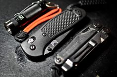 EDC - Every Day Carry Benchmade Mini-Griptilian - Purchase on Amazon Leatherman Wave w/ Clip - Purchase on Amazon EagleTac D25C (325 Lumens) -