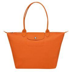 Shoulder bag L, Orange - View 1 of 3 Longchamp, Nylons, Credit Card Statement, Modern City, Printing Labels, You Bag, Work Fashion, Orange, Shoulder Strap