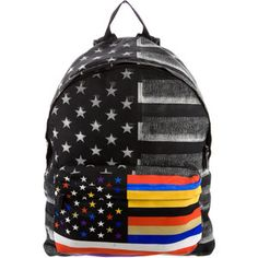 Pre-owned Givenchy Nylon American Flag Print Backpack