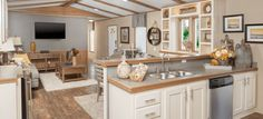 Single wide manufactured home decor. A nice, put together look for any small home. Single wide manufactured home Mobile Home Redo, Mobile Home Makeovers, Mobile Home Living, Mobile Home Decorating, Home Living Room, Decorating Ideas, Kitchen Makeovers, Room Makeovers, Mobile Home Renovations
