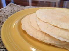 These gluten-free, grain-free tortillas are as easy to make as pancakes! They can be used for Mexican night dinner, a breakfast burrito, or as a wrap for a sandwich. Wheat Free Recipes, Paleo Recipes, Mexican Food Recipes, Cooking Recipes, Mexican Dishes, Paleo Tortillas, Homemade Tortillas, Low Carb Bread, Paleo Bread