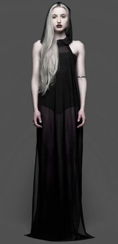 Sheer hooded maxi dress sleeveless full floor length hoodie dress #UNIQUE_WOMENS_FASHION