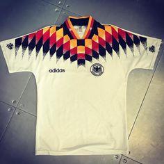 1994 Germany football shirt from @wunderalisa #football #footballshirt #footballshirtcollective #germany #euro2016 #adidas #adidasfootball #germanyfootball
