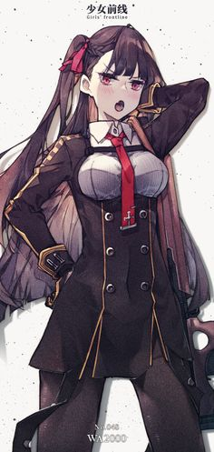 You have worked on cardtech illustration of Anti Rain and 404 Not Found of Girls' frontline. Anime Military, Military Girl, Female Characters, Anime Characters, Girls Characters, Cute Girls, Cool Girl, Character Art, Character Design