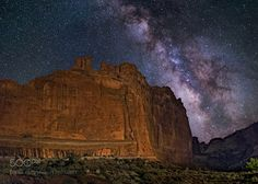 The Tower of Babel  The Tower of Babel Arches National Park Utah USA. Milky Way Galaxy                                                                                                                                                                                 More