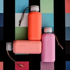SQUIREME GLASS BOTTLE Y1 CANTALOUPE – Kladi Glass Bottles, Cantaloupe, Water Bottle, Coral, Drinks, Drinking, Beverages, Water Bottles, Drink