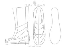 Shoe figure fashion template (D-I-Y your own Fashion Sketchbook)