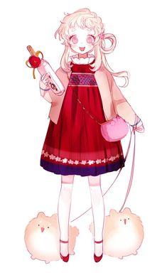 Cute Anime Chibi, Cute Anime Pics, Kawaii Anime, Anime Girl Dress, Anime Art Girl, Pretty Art, Cute Art, Mini Canvas Art, Anime Child