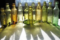 """tx Ian Wally Walton, Old bottles of great Britain. for sharing your family of Leigh & Co.""""ery good illustration of the huge range of Amber colours used by bottle manufacturers of Leigh & Co pop bottles. From memory I think they only used 1 firm as well....Redfearns Barnsley was it?"""" Mike Sheridan"""