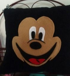 Mickey mouse pillow by Artbymayra on Etsy