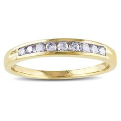 Miadora 14k Gold 1/4ct TDW Round Diamond Anniversary Ring (I-J, I2), Women's, Size: 10.25, Yellow