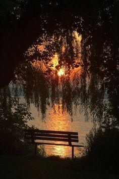 Um lugar para apreciar o pôr-do-sol...
