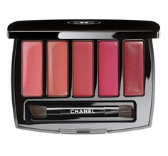 Chanel La Perle de Chanel Collection for Spring 2015. Lip palette with 2 glosses and 3 lipsticks
