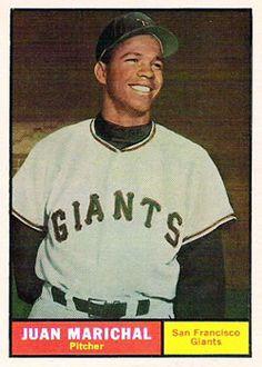 1961 Topps 417 Juan Marichal San Francisco Giants Baseball Card