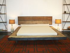 love this bed. rustic modern