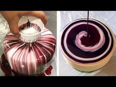 Most Satisfying Mirror Glaze Cake Decorating Compilation Birthday Cake Decorating, Cake Decorating Techniques, Cake Decorating Tutorials, Decorating Ideas, Inside Cake, Cake Baking Pans, Most Satisfying Video, Cake Hacks, Mirror Glaze Cake