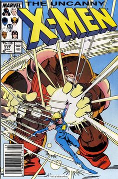 The Uncanny X-men n°217, May 1987, cover by Walt Simonson  Auction your comics on www.comicbazaar.co.uk