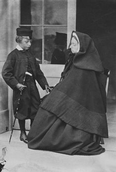 Queen Victoria and Prince Leopold [from Album: Portraits of Royal Children Vol.6 1862-1863] | Royal Collection Trust