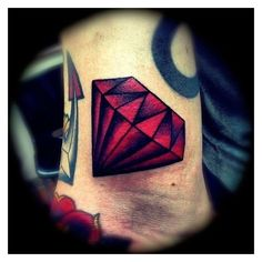 traditional diamond tattoo - Google Search   Tattoos   Pinterest ❤ liked on Polyvore featuring accessories and body art