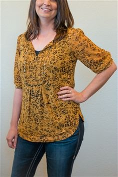 STYLISH ANIMAL PRINT TOP $42