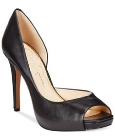 Jessica Simpson Jaselle d'Orsay Platform Pumps Women's Shoes, Black, 5.5M >>> More info could be found at the image url.