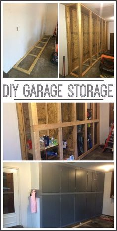 DIY Projects Your Garage Needs -DIY Garage Storage Cabinets - Do It Yourself Garage Makeover Ideas Include Storage, Organization, Shelves, and Project Plans for Cool New Garage Decor Armoire Garage, Garage Shed, Garage House, Garage Workshop, Small Garage, Garage Workbench, Car Garage, Workshop Ideas, Workshop Bench