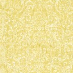 The Wallpaper Company 56 sq. ft. Yellow Scroll Damask Wallpaper-WC1280405 at The Home Depot  An OPTION for Steve's bathroom...