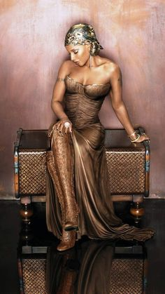Mary J Blige --- i think she looks like Athena having a quiet moment here. or maybe Artemis.