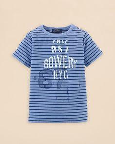 Ralph Lauren Childrenswear Boys' Stripe Prlc Tee - Sizes 2-7
