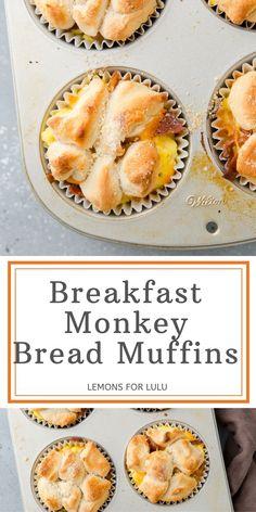 Mini Breakfast Quiche, Savory Breakfast, Breakfast Items, Sweet Breakfast, Best Breakfast Recipes, Brunch Recipes, Monkey Bread Muffins, Homemade Muffins, Muffin Tin Recipes