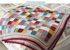 Cherry Heart: Crochet Granny Blanket