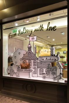 MULBERRY Spring/Summer 2015 Window Display | 'From Mulberry With Love' by Millington Associates