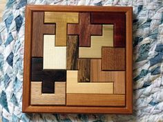 Pentominoes Wooden Puzzle by finkh on Etsy Easy Woodworking Projects, Wood Projects, Projects To Try, Teds Woodworking, Wood Crafts, Diy And Crafts, Wood Games, Wooden Gifts, Montessori Toys