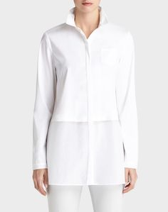 Fashion Over Fifty Ultimate Fashion Essential The White Tunic Shirt (rough luxe) Fashion Over Fifty, Over 50 Womens Fashion, Fashion Over 50, Peplum Shirts, Tunic Shirt, Crisp White Shirt, White Shirts, Sarah Fit
