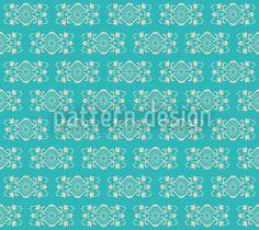 Turquoise Royal designed by Viktoryia Yakubouskaya, vector download available on patterndesigns.com Vector Pattern, Digital Pattern, Pattern Design, Roman Art, Royal Design, Summer Feeling, Vector File, Surface Design, Art Nouveau