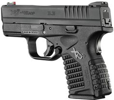 Springfield XDS Compact Pistol XDS93345B, 45 ACP, 3.3 in, Black Polymer Grip, Black Finish, 5 Rd