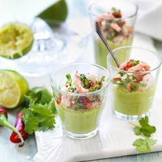 Avokado är en av grönsakerna som odlas i Vi-skogen. Servera moussen före den puttrande grytan.